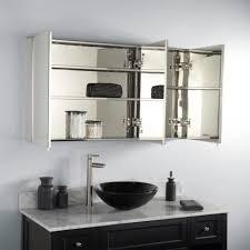 Bathrooms Cabinets Bathroom Mirror Cabinet 3 Door Medicine