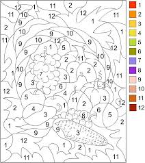 Small Picture Printable Color by Number for Adults COLOR BY NUMBER