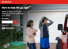 this picture shows marketers how state farm uses an insurance landing page to generate car insurance