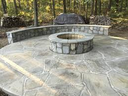 flagstone patio with fire pit. Outdoor Stone Fire Pit Seating Wall Flagstone Patio Ashburn Va With E