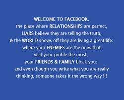 Facebook Quotes About Life Enchanting Facebook Quotes Welcome To Facebook The Place Where Relationships