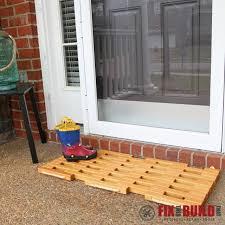 picture of diy wooden doormat
