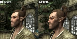 Skyrim Hair Style Mod woodelf malehair fix at skyrim nexus mods and munity 2118 by wearticles.com
