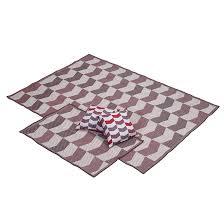 outdoor rugs set cambridge 3 pieces red