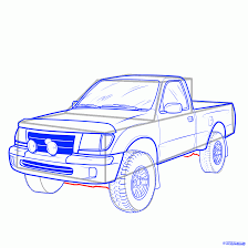 how to draw a pickup truck, pickup truck step 17 | Craft ideas in ...