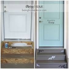 a very cute idea to make your garage door entry adorable garage entry makeover love it