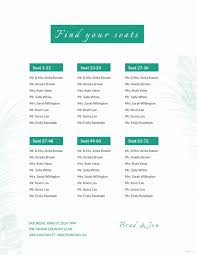 Seating Chart For Wedding Reception Alphabetical Wedding Seating Chart Fresh Seating Chart Wedding