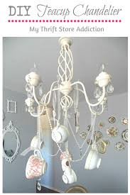 diy whimsical teacup chandelier mythriftaddiction blo com create a one of a kind chandelier