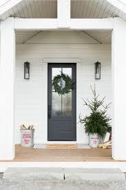 matte black gl windowed front door