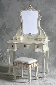mirrored vanity furniture. Frantic Furniture Bedroom Ivory Stained Wooden Mirror Vanity Dressing Table Andivory Stool And Along Mirrored R