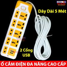 Shop bán Ổ Điện Đa Năng - Ổ Cắm Điện Thông Minh 9 Phích Cắm - 2 Cổng Sạc  USB Tiện Lợi CYX 315U giá chỉ 125.000₫