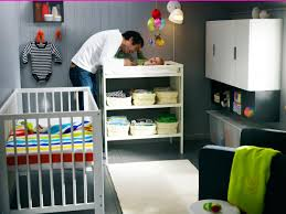 compact nursery furniture. Small Nursery Room With White Crib Bedding Ideas And Storage Furniture Compact I
