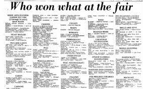 who won what at the fair. Joanne Maslana & Frances Maslana - Newspapers.com