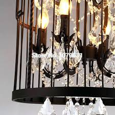 chandeliers birdcage crystal chandelier with crystals light fixture brilliant pendant lights iron cage home decor vintage