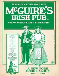 Dinner Menu Mcguires Irish Pub