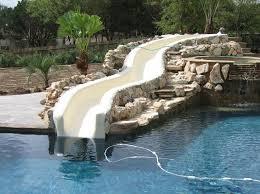 backyard pool with slides. Backyard Pool Waterslide Backyard With Slides B