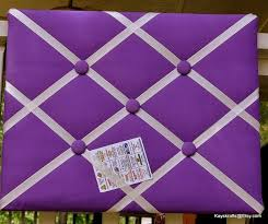 Memo Board With Ribbon Awesome Purple Memory Board French Memo Board Fabric Ribbon Memo Etsy