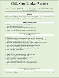 Child Care Worker Resume care worker cv Enderrealtyparkco 1