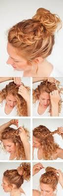 Die Besten 25 Flechtfrisuren Mit Lockigen Haaren Ideen Auf