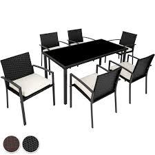 Poly Rattan Gartenmöbel Set Garnitur Sitzgarnitur Stuhl Tisch
