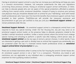 Online Emotional Support Animal Approval Prescriptions