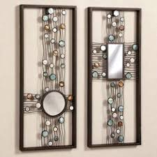 mirror wall decor circle panel: capizia metal wall panel art set y touchofclasscom
