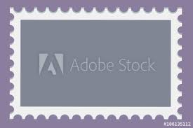 Stamps Template Blank Postage Stamps Template Set On Dark Background