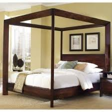 Salerno Wood Canopy Bed by Humble Abode Signature | Wooden