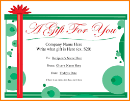 12 free printable gift certificate template word st