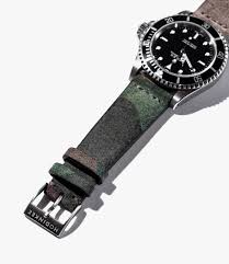 leather watch bands gear patrol hoee camouflage slide