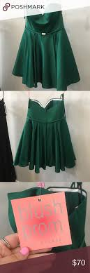 Short Strapless Green Formal Designer Dress Brand New Short