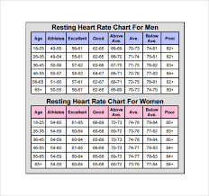 Heart Beat Chart Sample Heart Rate Chart Template 10 Free Documents