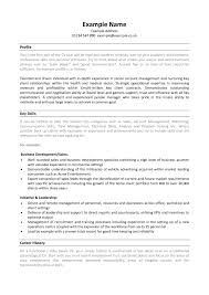 Resume Key Qualifications Curriculum Vitaes Examples And
