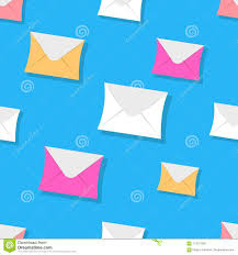 Seamless Pattern Emails Letters Directed Upwards Stock