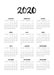 New Year Cute Calendar 2020 Holidays 2019 Calendars For