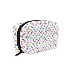 amazon makeup bag for portable cute colorful cartoon cats traveling square cosmetic pouch kits toiletry bag beauty