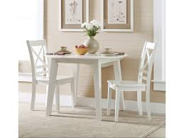 Jofran Simplicity Round Table And 2 Chair Set With X Back Chairs
