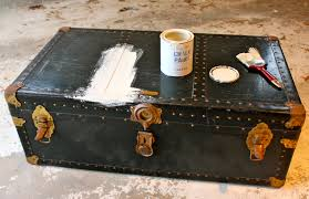 Old Coffee Table Makeovers My Passion For Decor Neglected Steamer Trunk Makeover