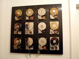 geek office decor. sweet geek room decor from recycled hard drives office