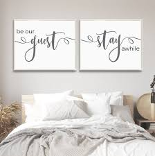 guest room print be our guest stay