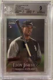 An exceptional eloy jimenez graded rookie card. 2019 Topps Stadium Club Chrome Scc 72 Eloy Jimenez Rookie Card Refractor Bgs 9 Ebay