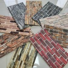 3D PE foam brick wallpaper factory ...