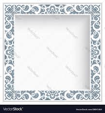 <b>Square photo</b> frame with <b>lace</b> border pattern Vector <b>Image</b>