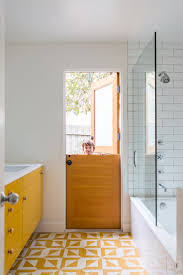 Best Images About Cool Bathroom Walls  Floors On Pinterest - Yellow and white bathroom