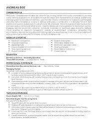 Resume For Teaching Assistant Thesis Writing Guideline University Of Vaasa Resume College 23