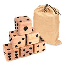 wood yard dice with carry bag