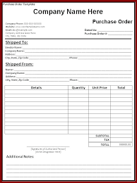 Purchase Order Excel Purchase Order Tracking Template Excel Purchase
