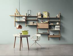 Wall Mount Bookcase Wall Mounted Racks Desks And Shelves That Save Space And Look