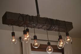 rustic wooden ceiling light