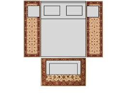 how place area rug under king size designs queen dimensions bedroom with runners pink full comforter